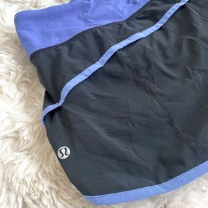 Blue & black Lululemon shorts